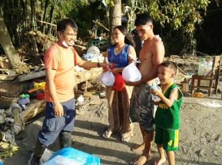 Relief goods for killer-typhoon survivors