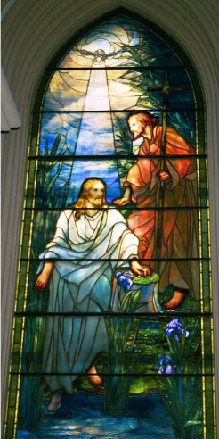Stained glass window by Louis Comfort Tiffany
