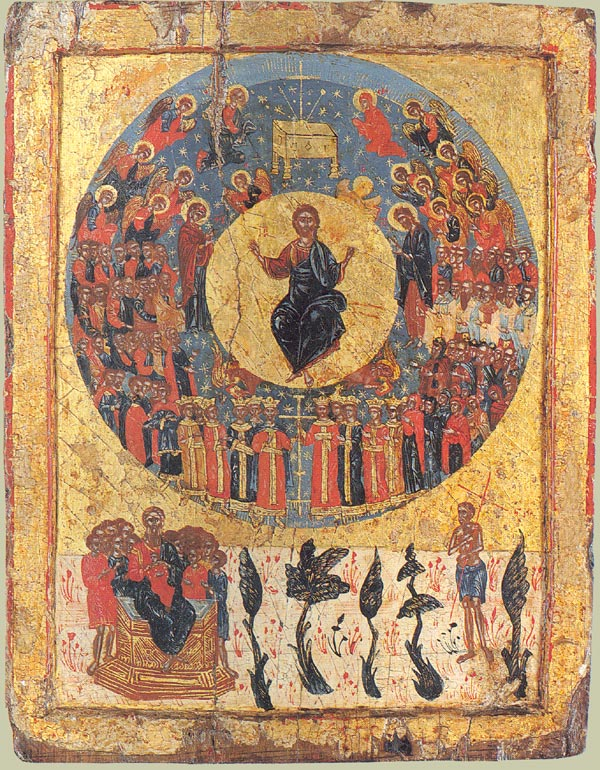 Greek icon of Second Coming, c.1700