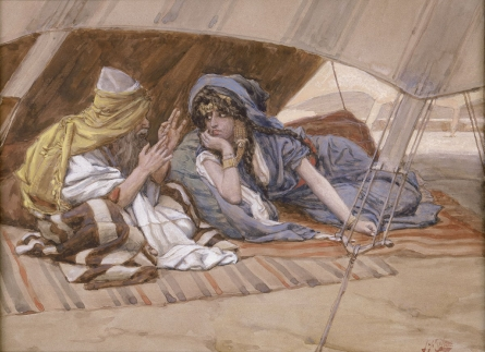 Abram's Counsel to Sarai (watercolor circa 1896–1902 by James Tissot)