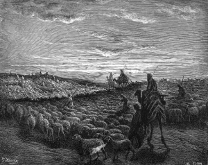Abraham Journeying into the Land of Canaan by Gustave Doré