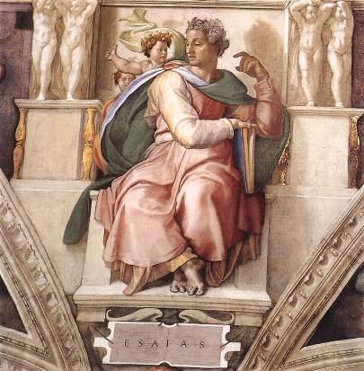 """Isaiah"" by Michelangelo c. 1508–1512, Sistine Chapel ceiling, Vatican City - Copy"