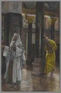 """""""The Pharisee and the Publican"""" by James Tissot, 1894"""