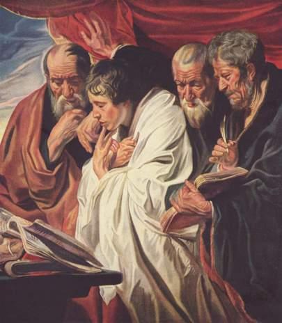 """The Four Evangelists"" by Jakob Jordaens, circa 1620"