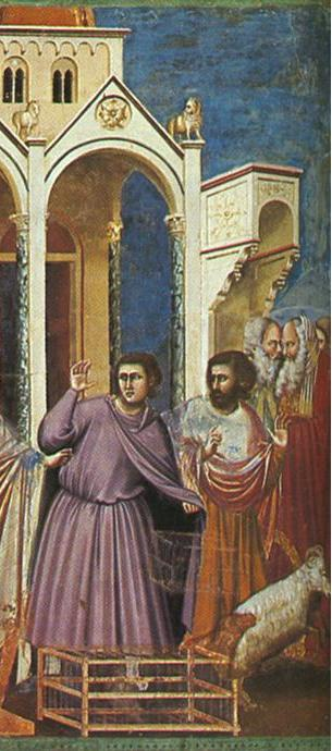 "From ""Casting Out the Money Changers"" by Giotto di Bondone, 14th century"