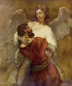 Rembrandt, 'Jacob Wrestling with the Angel', circa 1659