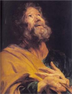 'The Penitent Apostle Peter' by Anthony van Dyck, 1618