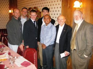 In 2009, with ministers of the Presbyterian Church in America (PCA). From left to right: Chris Garriott, Stephen Fix, James Forsyth, Ken Woo, Butch Hardman and Ed Bradley.