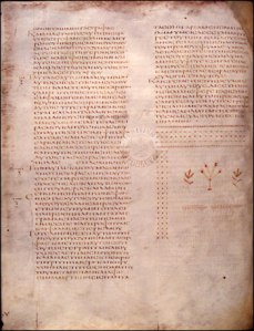 The Gospel of Luke in Folio 41v from Codex Alexandrinus