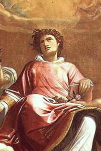 The first Christian martyr Saint Stephen, painting by Giacomo Cavedone