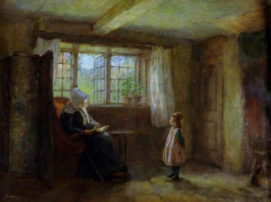 The Catechism, painting by Edith Hartry